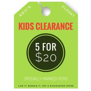 Other - 5 FOR $20 CLEARANCE